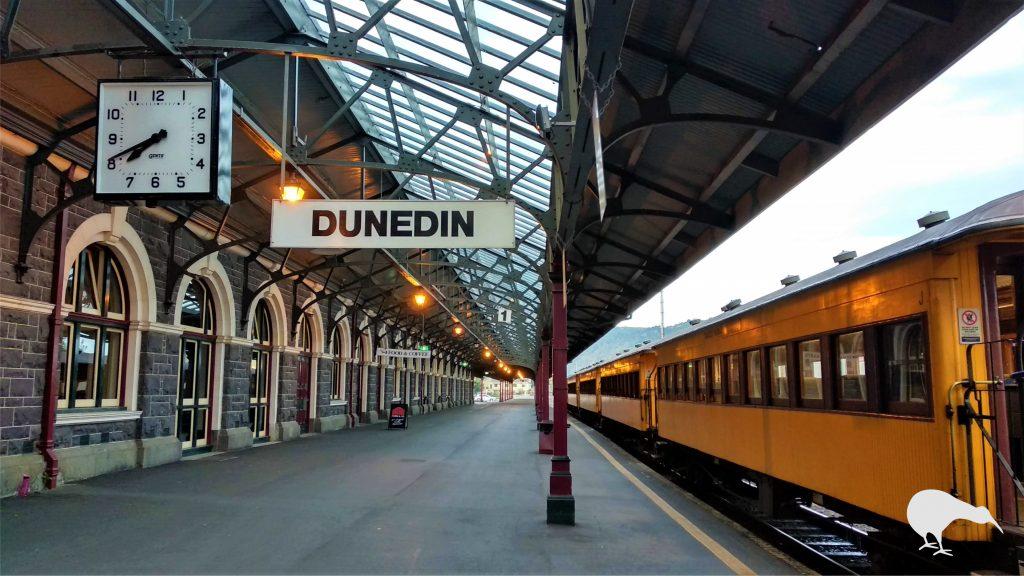 Foto en la estacion de tren de Dunedin
