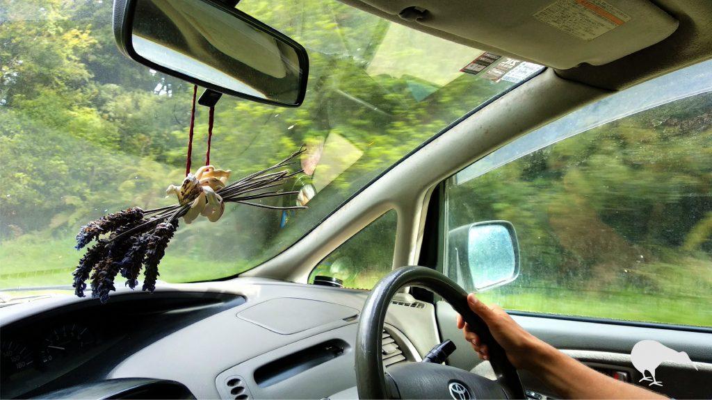 Furgoneta camper en Nueva Zelanda volante